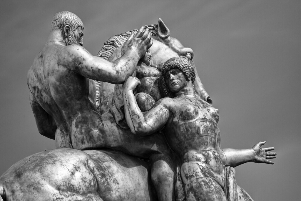 Arts of War, Sacrifice & Valor, statue on the Arlington Memorial Bridge near the Lincoln Memorial in Washington, D.C.