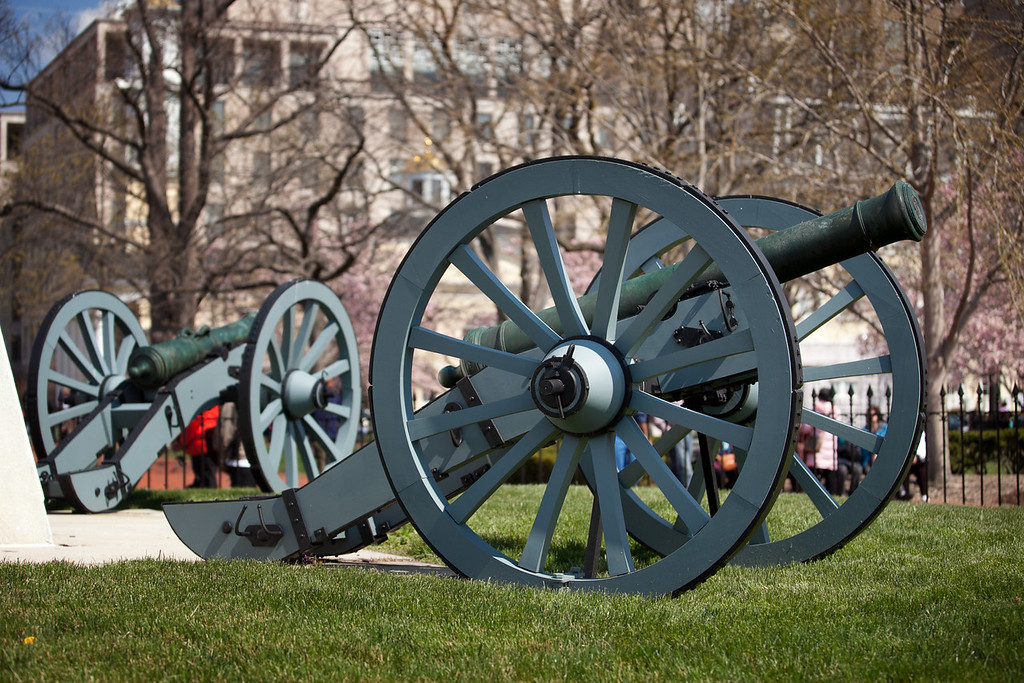 Cannons along Pennsylvania Avenue - right across the street from the White House.