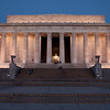 Lincoln Memorial just before sunrise.