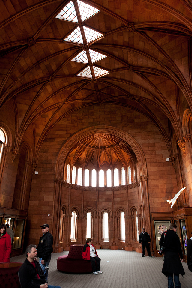Interior of the Smithsonian Institution Building, the Castle