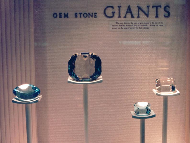 Gem Stones - National Museum of Natural History - Washington, DC  3-29-92