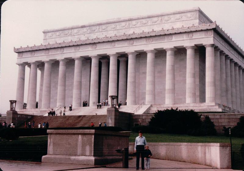 Randal and Ben at Lincoln Memorial - Washington, DC - 10/13/85