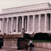 Randal and Ben at Lincoln Memorial - Washington, DC - 10/13/85