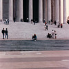 Benjamin and Donna on Steps of Thomas Jefferson Memorial - Washington, DC - 10/13/85