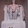 Randal and Ben in Lincoln Memorial - Washington, DC - 10/13/85