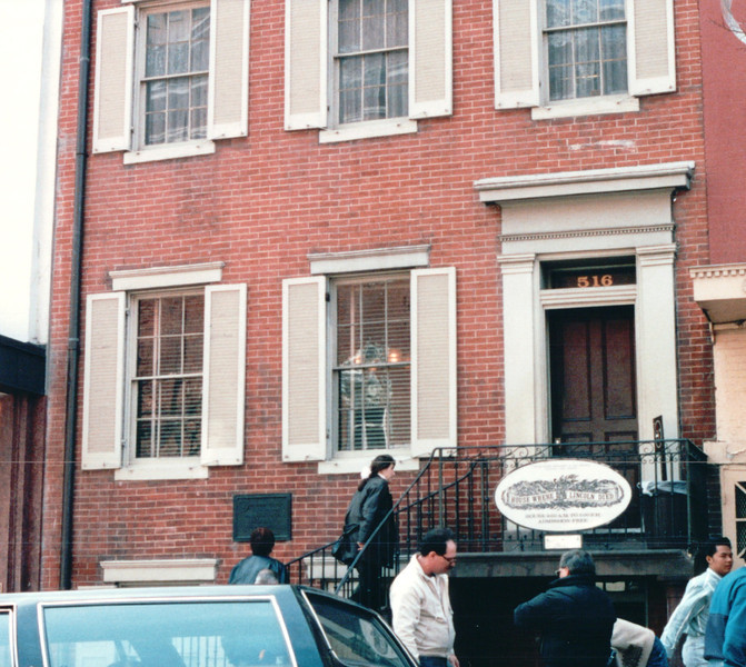 House Where President Lincoln Died Across the Street From Theater - Washington, DC  3-29-92