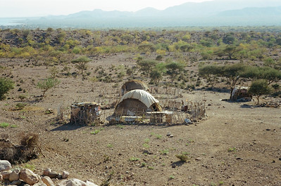 Domed Huts in the Desert