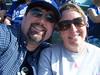 Holly n George, havin fun at Dodger Stadium.