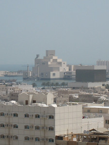 The Museum of Islamic Art which was built on its own island, photo taken from the hotel balcony.