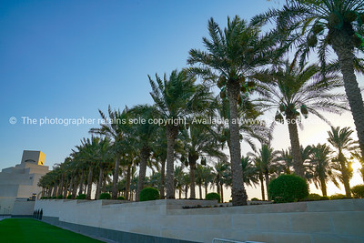 The Corniche on Doha, a pedestrian walkway along harbour edge