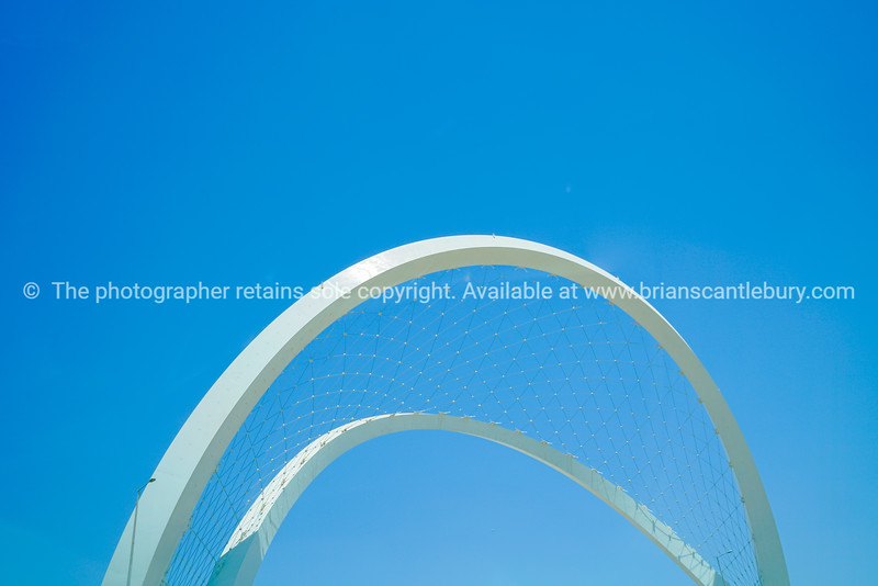 Memorial arches over Lusail Highway areb biggest monument in Qatar