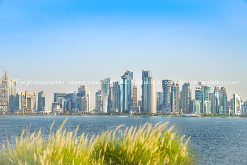 Al Dafna or Doha business district commercial skyline