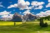 Puffy clouds above Alpe di Siusi