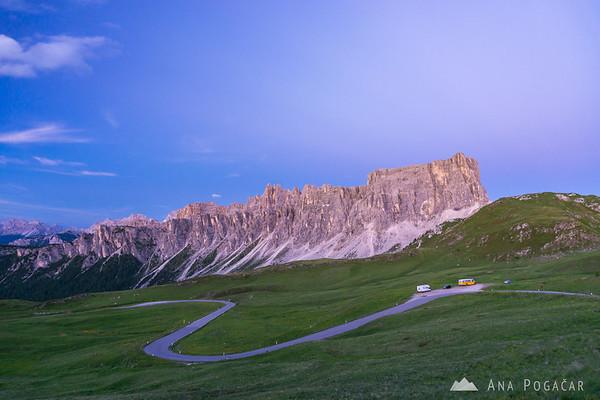 Passo Giau at dusk