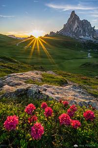 Sunset at Passo Giau