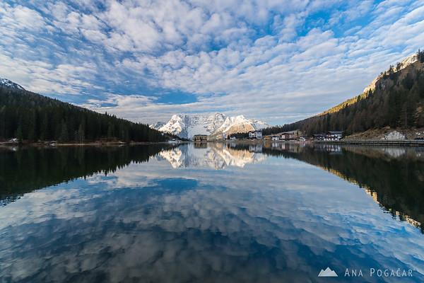 Lago di Misurina and crazy clouds