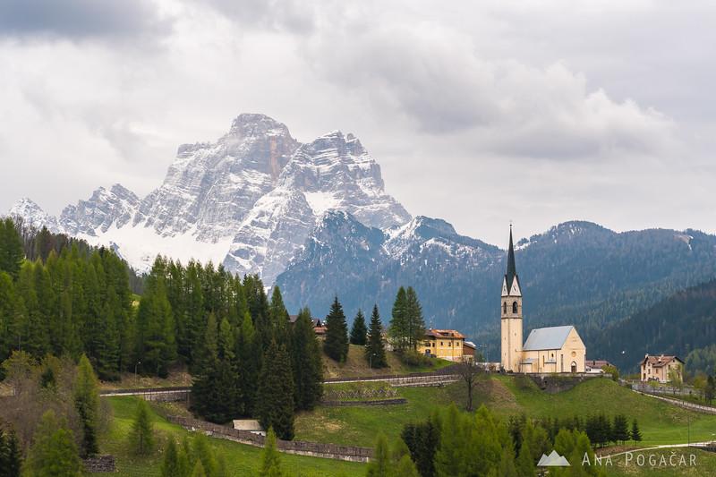 Village of Selva di Cadore and Mt. Civetta