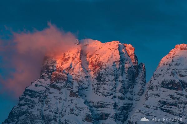 Monte Cristallo at sunrise