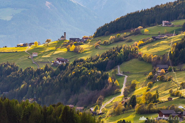 Val di Funes in the late afternoon light