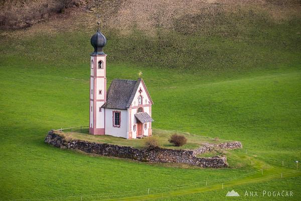 San Giovanni church in Val di Funes