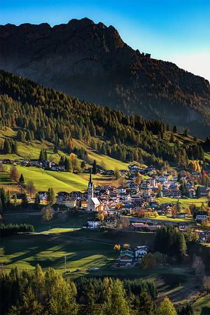 Hillside village
