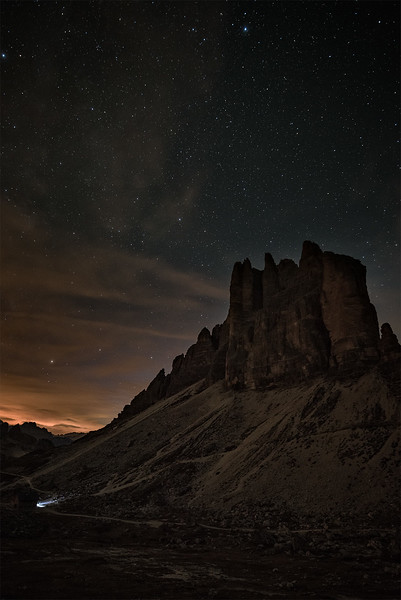 Tres Cime at night