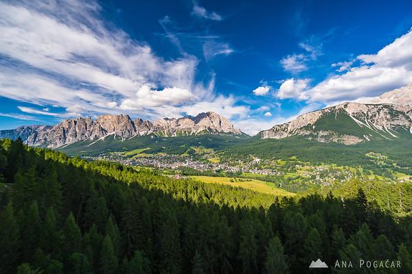 Cortina d'Ampezzo and Monte Cristallo