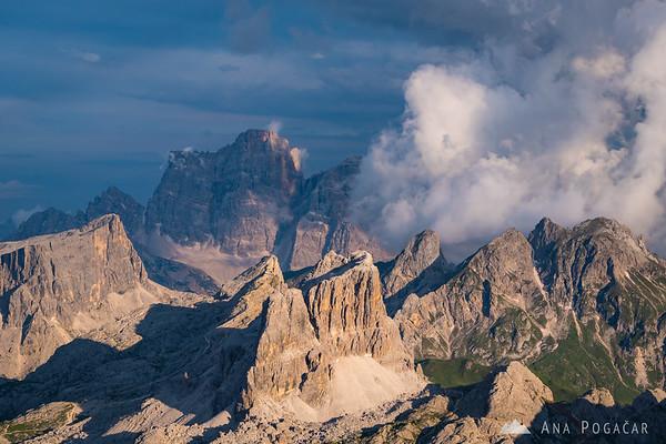 Views from Rifugio Lagazuoi towards Monte Pelmo