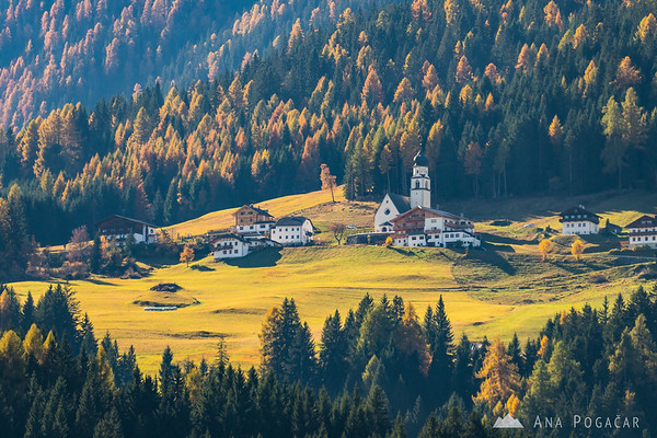 Village of Tassenbach, Austria, on the way to Lago di Braies