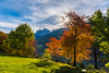 The glorious valley of Val di Funes on a sunny fall morning