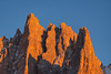 Baita Segantini and Pale di San Martino at sunset