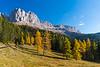 Views of Torri del Vajolet from the road to Passo Nigra