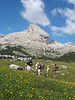 Let' have a rest on a beautiful trail ( Alta Via Dolomite).