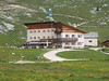 Lodging in bouble bed in th LAVARELLA HUT(2042m), showers available and cold bier.