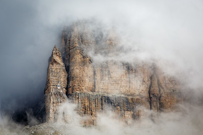Sass Pordoi massif, Dolomites, Italy, 2014