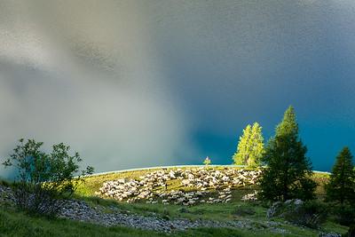 Morning at Lago di Fedaia