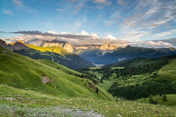 Val di Fassa from Passo Sella