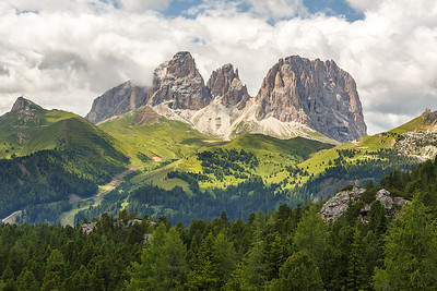 Sassolungo and Sassopiatto massif