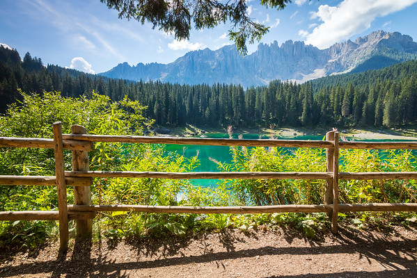 Lake Carezza, Dolomites, Italy, 2016