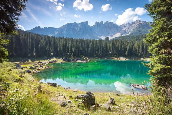 Lake Carezza, Dolomites, Italy, 2016