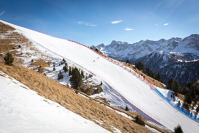 Ciampac ski resort, Val di Fassa, Dolomites, Italy, 2017