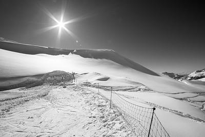 Sunny winter, Val di Fassa, Dolomites, 2014