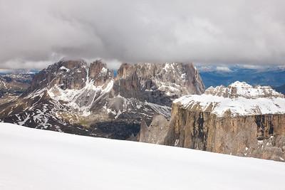 Gray Above, White Below taken from the top off Pordoi Peak