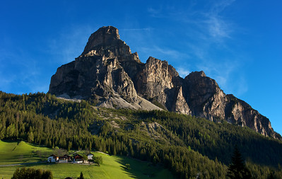 Sassongher in the Morning from Dolomites