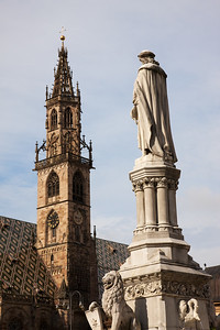 Walther and Church at Waltherplaza in Bolzano