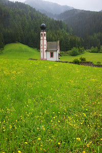 San Giovanni Church Profile nestled in Val di Funes