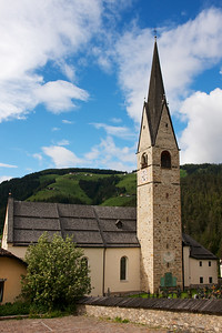San Martino Church in Alta Badia, Dolomites, Italy