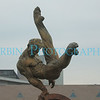 A statue of a male gymnast at the Olympic site in Atlanta, GA.