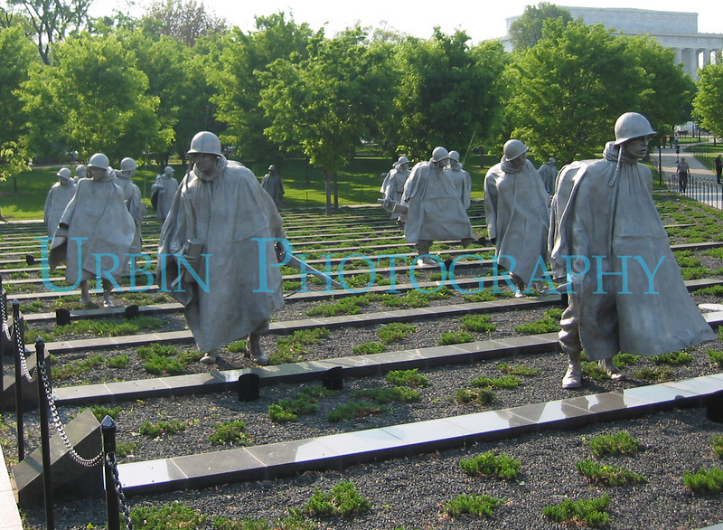 These statues are part of the Korean War Memorial in Washington, D.C.