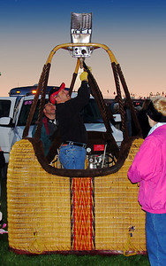 "Albuquerque, NM - It all began around 5:30 a.m. when the first balloonists began testing their propane burners and ""cold inflating"" their balloons."